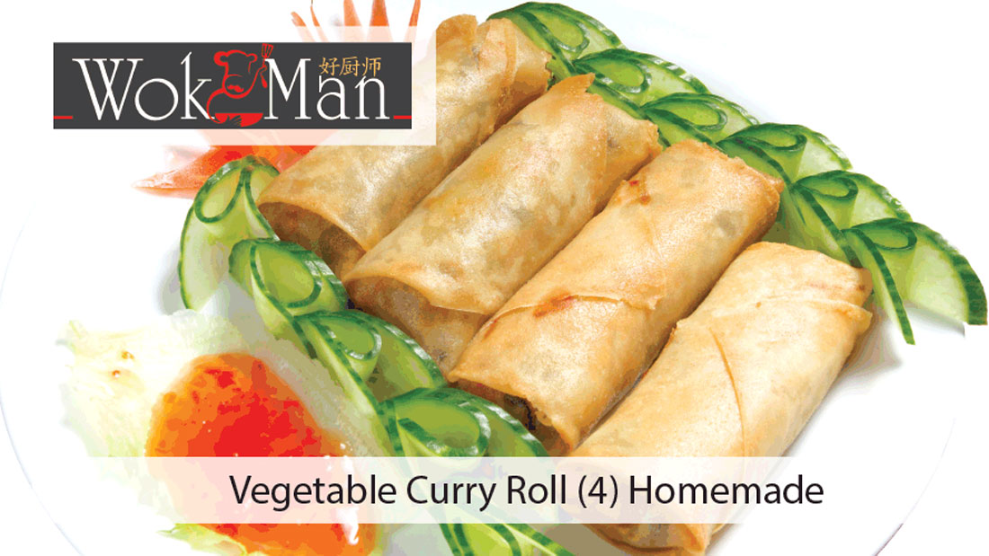 Vegetable Curry Rolls (4) Homemade